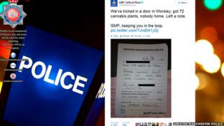 Tweet showing not left by Greater Manchester Police