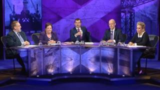 John Swinney, Jackie Baillie, Tessa Hartmann and Michael Fry