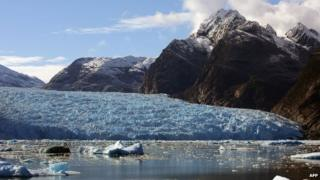 View of The Northern Patagonian Ice Field, located in the Laguna San Rafael National Park, on October 29th, 2007