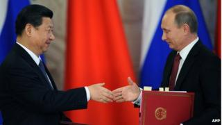 The presidents of China and Russia often agree on foreign policy issues