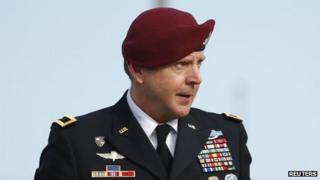 US Army Brigadier General Jeffrey Sinclair appeared in Fayetteville, North Carolina, on 20 March 2014