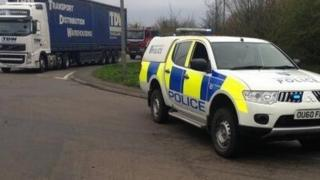 Police on scene of Bicester gas leak
