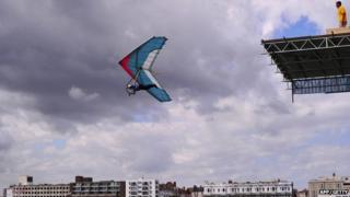 Participant in 2013 Worthing Birdman competition