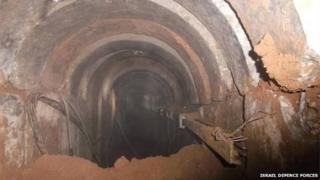 IDF image of uncovered tunnel (21/03/14)