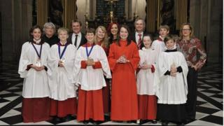 Barbara (far right) was a judge on the BBC's Young Chorister of the Year competition