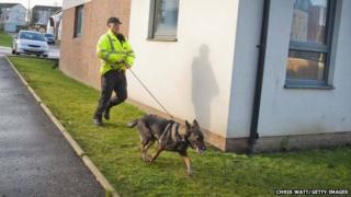 Police dog handler