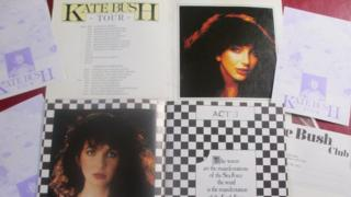 Memorabilia from Kate Bush tour in 1979