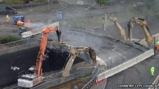 Bridge destruction