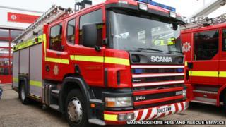 Warwickshire fire engine