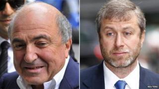 Boris Berezovsky (left) and Roman Abramovich