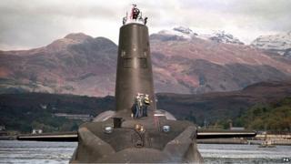HMS Vanguard nuclear submarine