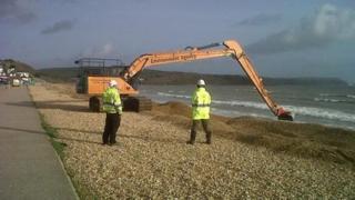 Preston Beach sea defences