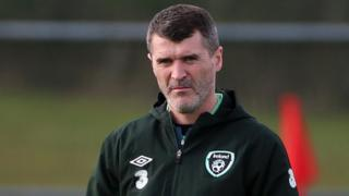 Republic of Ireland assistant manager Roy Keane during a training session in Dublin