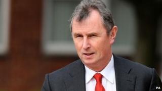 Nigel Evans arrives at court