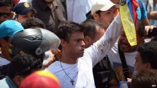 Leopoldo Lopez's arrest 18 Feb 2014
