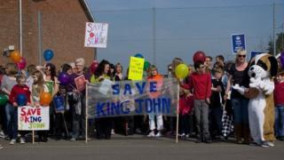 Save King John School campaigners