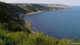 Durlston Bay from Durlston Castle