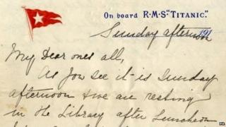 Titanic letter from Esther Hart