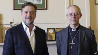 Russell Crowe and Justin Welby