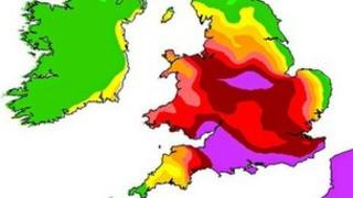 Met Office picture of air pollution levels
