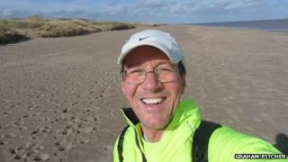 Graham Pitcher on Skegness beach