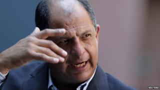 Luis Guillermo Solis, presidential candidate of Costa Rica's Citizens' Action Party (PAC)