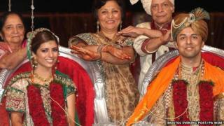Shrien and Anni Dewani pictured at their wedding in October 2010