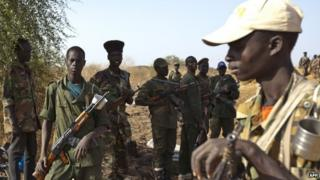 SPLA soldiers in Malakal (20 March 2014)