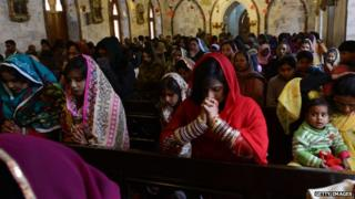 Christians in a church in Lahore (file photo)