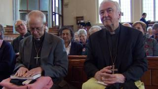 The Archbishop of Canterbury Justin Welby and Cardinal Vincent Nichols the Archbishop of Westminster