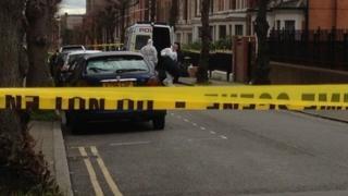 Police in Hartington Street, Derby