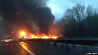 M40 fire by Oliver Jobson