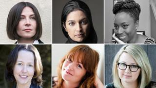Shortlisted: (clockwise from top left) Donna Tartt, Jhumpa Lahiri, Chimamanda Ngozi Adichie, Hannah Kent, Eimear McBride and Audrey Magee