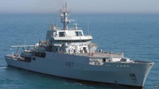 HMS Echo (handout photo)