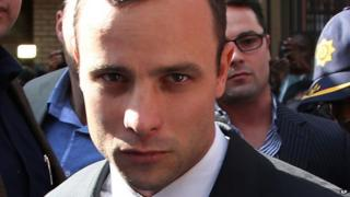 Oscar Pistorius arriving at the court in Pretoria, 8 April 2014