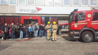 Edinburgh Napier fire