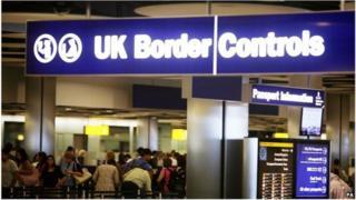 UK border controls at Heathrow Airport