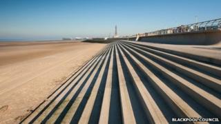 Blackpool flood defences
