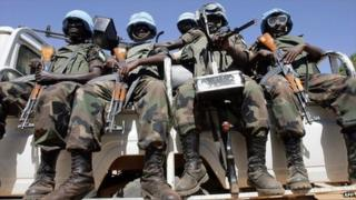 Unamid peacekeepers in Fasher, the Sudanese region of Darfur (file image)