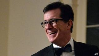 Stephen Colbert appeared in Washington, DC, on 11 February 2014