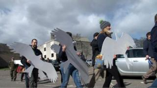 Red kite protest