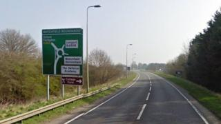 A420 at Watchfield roundabout