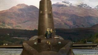 Trident submarine HMS Vanguard