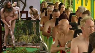 Naked golfers and rollercoaster riders at Adventure Island