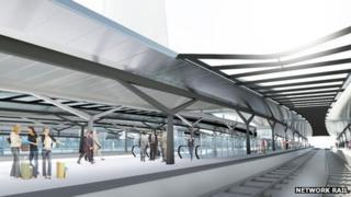 Artist's impression of the new platforms at London Bridge