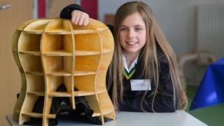 Amy Mather with product made from 3D