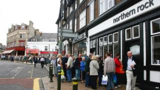 Northern Rock queue in 2007