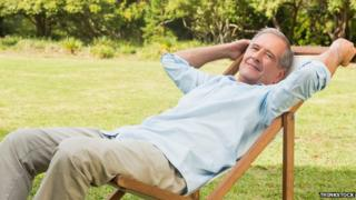 Man in deckchair