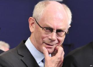European Council President, Herman Van Rompuy - file pic