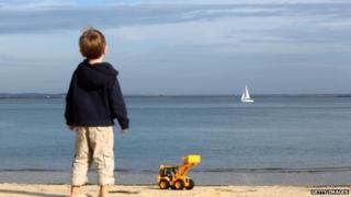 Child on holiday